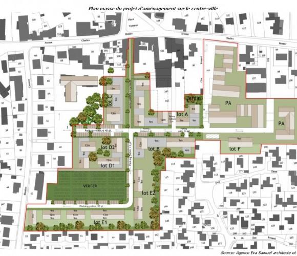 Plan du renouvellement urbain de Cesson Centre