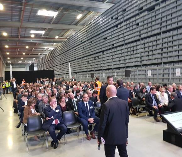 inauguration plateforme logisteo parc A5 sénart