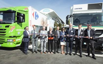 L'EPA Sénart et ENGIE inaugurent les stations GNV