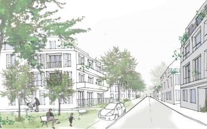 Perspective du renouvellement urbain de la future ZAC de Cesson Centre
