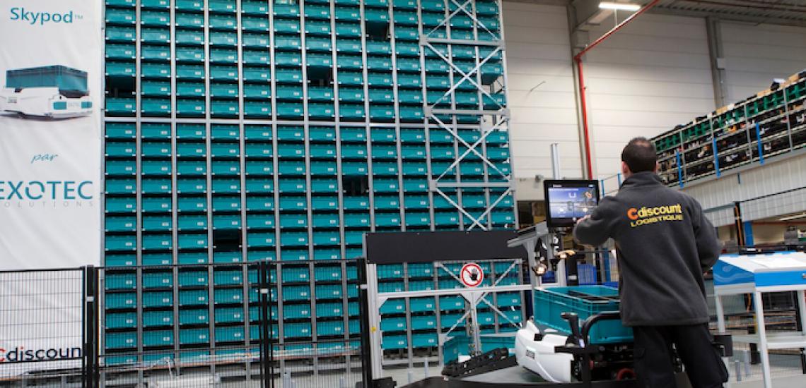 Cdiscount, un entrepôt ultra-robotisé sur le parc de l'A5 Sénart