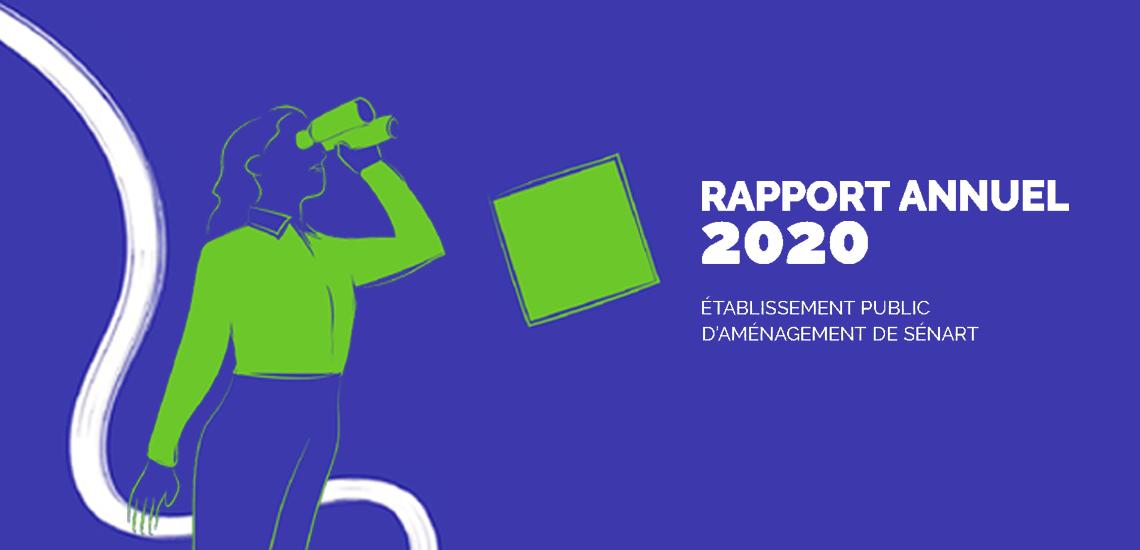 Le Rapport Annuel 2020 de l'EPA Sénart : un récit bi-média