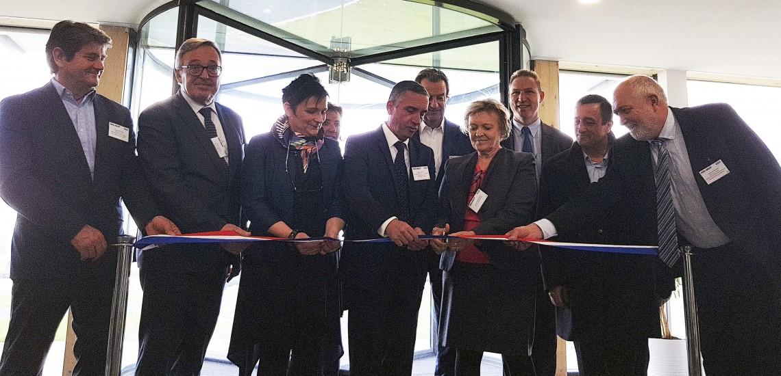 Assa Abloy Entrance Systems inaugure son nouveau siège social France sur le parc du Levant à Sénart