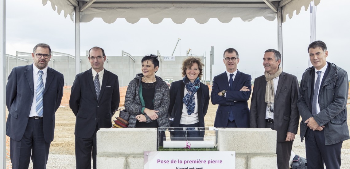 SOFADE-DI pose la première pierre de son nouveau bâtiment sur le Parc de l'A5-Sénart