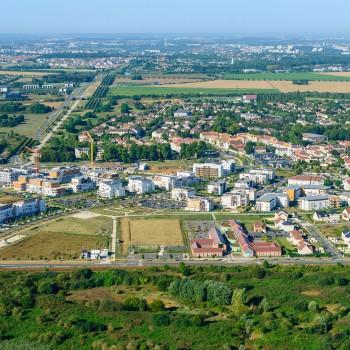 Vue aérienne Ecoquartier de l'Eau Vive à Lieusaint